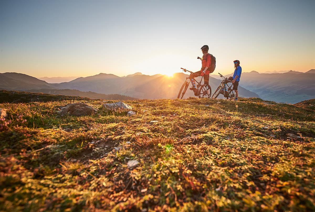 Das Bikeparadies mit weitem Blick über die Bergwelt Saalbachs und Umgebung.